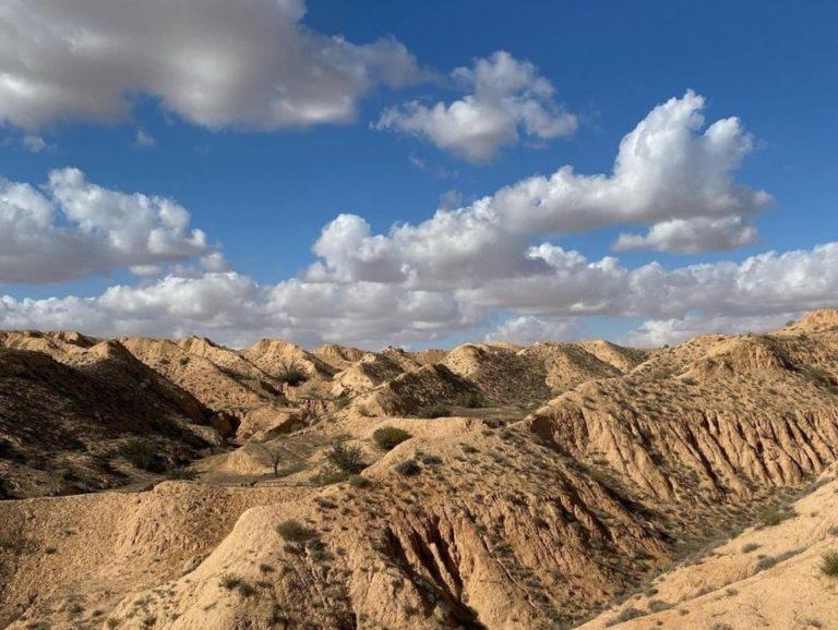 Les montagnes de Matmata sud Tunisie